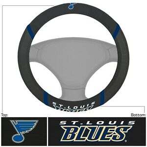 Fanmats NHL St. Louis Blues New Embroidered Steering Wheel Cover Del. 2-4 Days