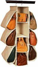 Hanging Purse Handbag Organizer Homewares 10 Pockets Sturdy Dorm Space Saver