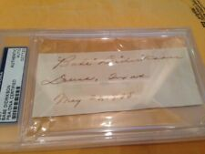 Babe Didrikson signed cut dated May 23, 1935 from Dallas Texas with PSA/DNA