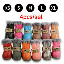 4pcs/set Waterproof Pet Shoes Winter Dog Cat Snow Boot Anti-Slip Warm Socks Boot
