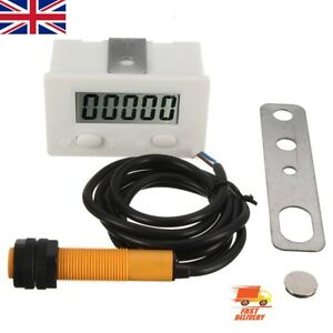 5 Digit Electronic LCD Punch Counter Magnetic Inductive Proximity Switches