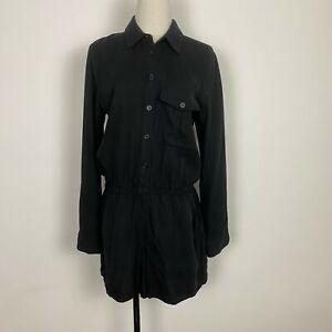 The Fifth Label Womens Black Drop Waist Button Front Jumpsuit One-Piece Size M