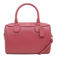 NWT COACH Mini Bennett Satchel Crossbody Shoulder Handbag Strawberry F32202 Cute