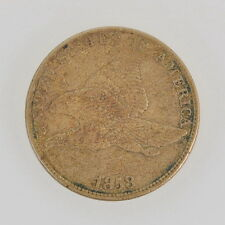 1858 US Flying Eagle One Cent Large Letters XF Coin