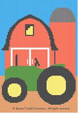 Crochet Patterns - Tractor Barnyard Farm Afghan Pattern