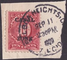 Canal Zone - 1925 - 10 Cents Carmine Rose Overprinted Postage Due #J20 On Piece