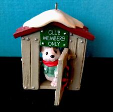 1988 Hallmark Club Members Only Mouse in the Club House Christmas Ornament