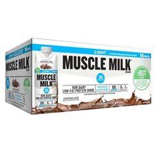 MUSCLE MILK LIGHT rBST FREE Chocolate Shakes 18 PACKS - Each 11 fl oz