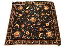 Vintage Gianni Versace Astrology Silk Scarf Novelty Black Large
