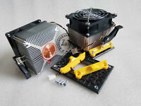 4-pin CPU FAN COOLER HEAT SINK AMD socket AM4 mount bracket & back mount plate