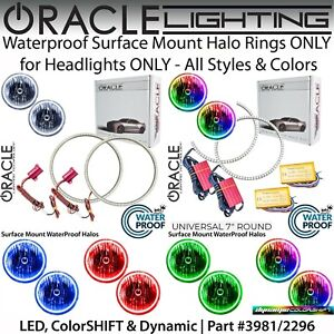 "ORACLE Universal Surface Mount Halo Rings for 7"" Round Headlights *All Colors"