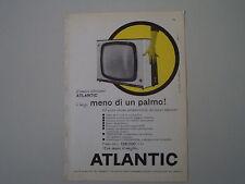 advertising Pubblicità 1960 TELEVISORE ATLANTIC