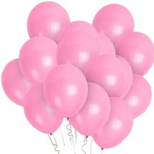 PMLAND 100 Pieces Pink Latex Party Balloons 12 Inches