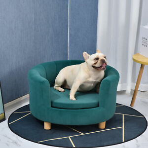 Modern Nest Shape Pet Sofa for Cat or Small-sized Dog w/Loop Wrapped Backrest