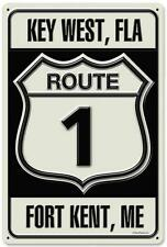 Vintage Retro Key West Florida Fort Kent Maine Metal Sign Unique Decor RPC139