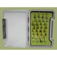 Nymph Trout fishing Flies 32 Boxed Set, named Flies, Mixed Size, For Fly Fishing