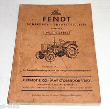 Teilekatalog Teileliste Traktor Fendt Schlepper Dieselross F 24 L Stand 06/1954