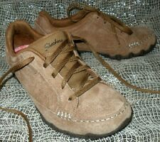 SKECHERS Women RELAXED FIT Air Cooled MEMORY FOAM Shoes BROWN TAN SIZE 6 Great!