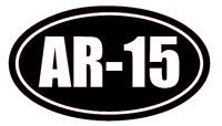 AR-15 Vinyl Decal Sticker Car Window Wall Bumper Gun Ammo Assault Rifle 5.56x45