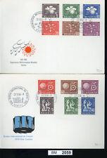 BM2059, Schweiz - Ausgaben Internationaler Organisationen, FDC, 1956, BIT, OMM