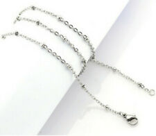 "Chain Necklace 24"" Long 3mm thick Anti-Tarnish Stainless Steel Cable Link & Ball"