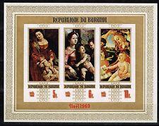 Burundi Art Madonna Famous Italian Paintings Siuvenir Sheet 1969 MNH