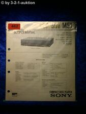 Sony service manual CDP 591/m51 CD Player (#0462)