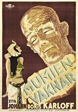 MUMMY 1929 Vintage Horror Movie Poster Giclee Canvas Print 24x32 in.