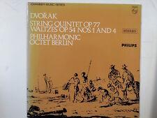 LP DVORAK String Quintet Waltzes, Octet Berlin SAL3688