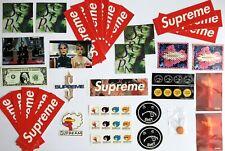 100% Authentic Supreme Sticker Lot Bundle Scarface Blood Semen Gonz Box Goldin