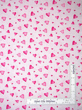 Nursery Baby Girl Heart Star Love Cotton Fabric Red Rooster Bundle Of Pink Yard
