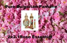 2 x 2.1 ml 100% Pure Bulgarian Rose Essential Parfume Rosa Damascena OIL