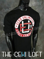 Mens ECKO UNLTD T-Shirt MMA Line FULL CONTACT in Black Roar with Class!