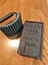 Antique Vintage Cast Iron Ruffle Maker Fluter Sad Iron Crimper Press 1866 Geneva