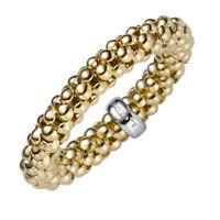 Ring Damenring Fingerring elastisch Himbeer Breite 4mm aus 585 Gold Gelbgold
