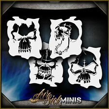 Mini Skull Set 1 Airbrush Stencil Template Airsick