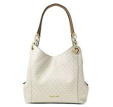 NWT Michael Kors 30S8GFTL3B Fulton Large Charm Shoulder Tote in Vanilla $398