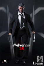 1/6 Scale Copycat Old Wolverine Clothes Set + Wolf Paw Logan Figure Accessories