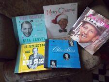 Bing Crosby Vintage Vinyl Albums - Lot - Merry Christmas