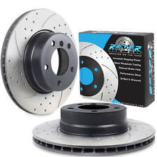 FRONT DRILLED GROOVED 310mm BRAKE DISCS FOR BMW E60 520i 525i 525d SALOON