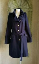 DRYKORN for beautiful people navy blue wool belted military peacoat sz 4