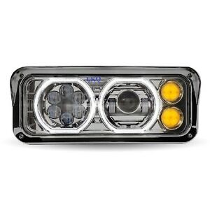 KENWORTH W900 T800 PROJECTOR HEADLIGHT LED TURN SIGNAL LS K256-880-4 TLED-H100