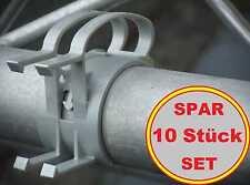10 St. SNAP Kabel Bügel mit Halterung für Steckdosen grau, Befestigungs Klammer
