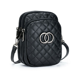 New Real Leather Women's Crossbody Bag Travel Mini Messenger Shoulder Bag Purse