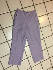 ALFRED DUNNER Pants Pull On Lavender Linen Look Womens 8 P Back Elastic