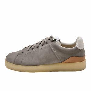 Clarks Originals Tormatch LT Grey Suede Men's Retro Tennis Sneaker 62048