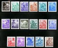 DDR #Mi362-Mi379 Mint CV€110.00 1953 Industrial Workers [155-171]