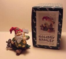 """Vintage Holiday Hamlet """"Gathering Pine Boughs"""" Fitz and Floyd 1993 Signed Rare"""