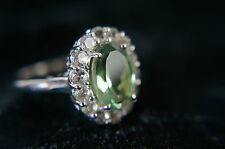 Ring aus 925 Silber mit schönem grünen Achat, RingGr.58, Echtschmuck (70)