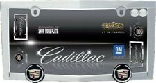 Cadillac Logo Chrome License Plate Tag Frame + 2 Chrome Screw Caps Brand New